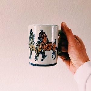 Vintage Louisville Stoneware Ceramic Horse Mug